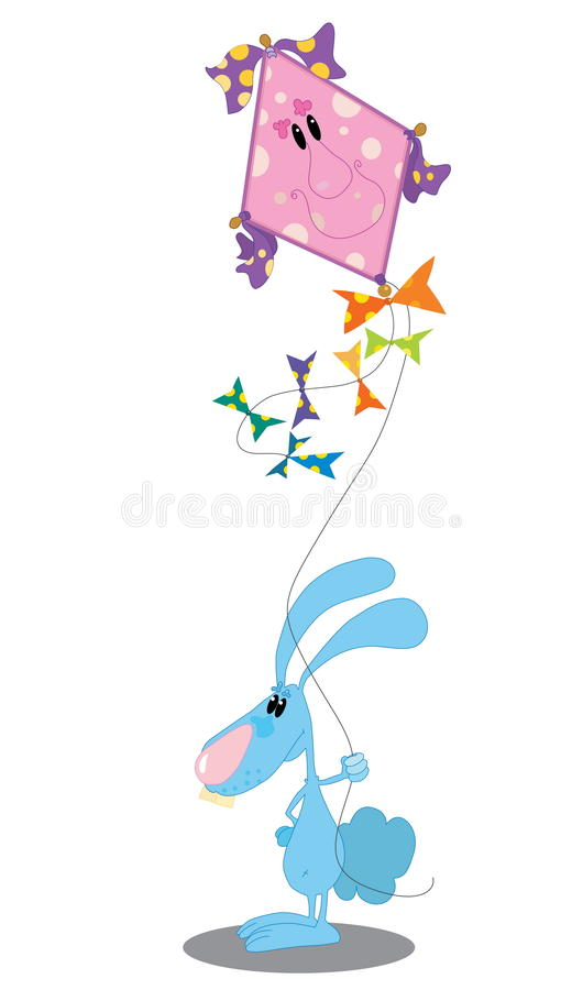 Rabbit With A Kite Stock Photography