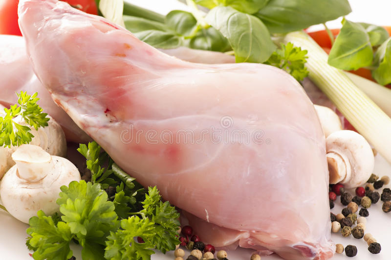 Download Rabbit meat stock image. Image of white, cook, portion - 24057059