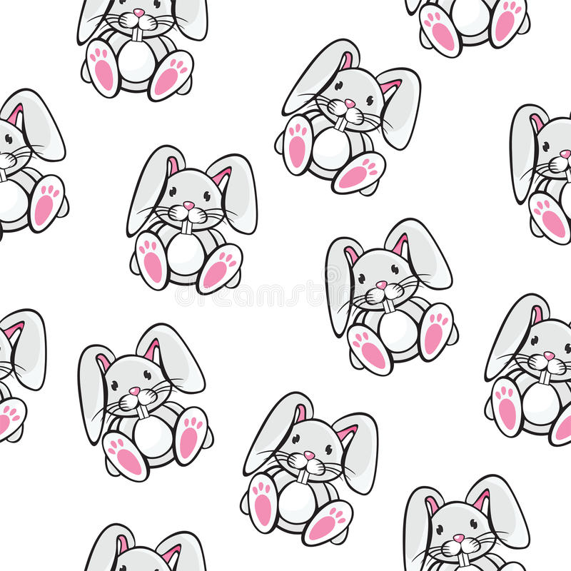 Download Rabbit pattern stock vector. Illustration of animal, texture - 31921854