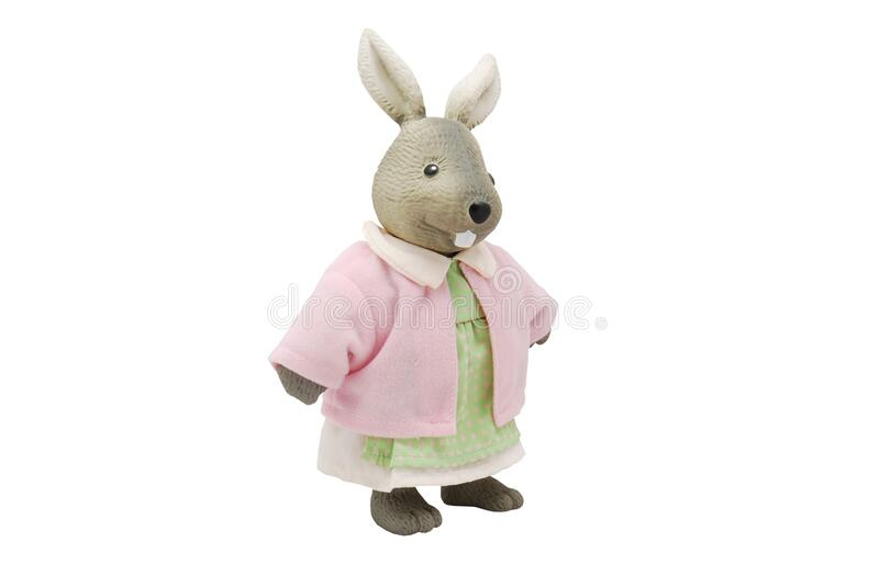 Rabbit Plush Toy With Pink Dress royalty free stock image