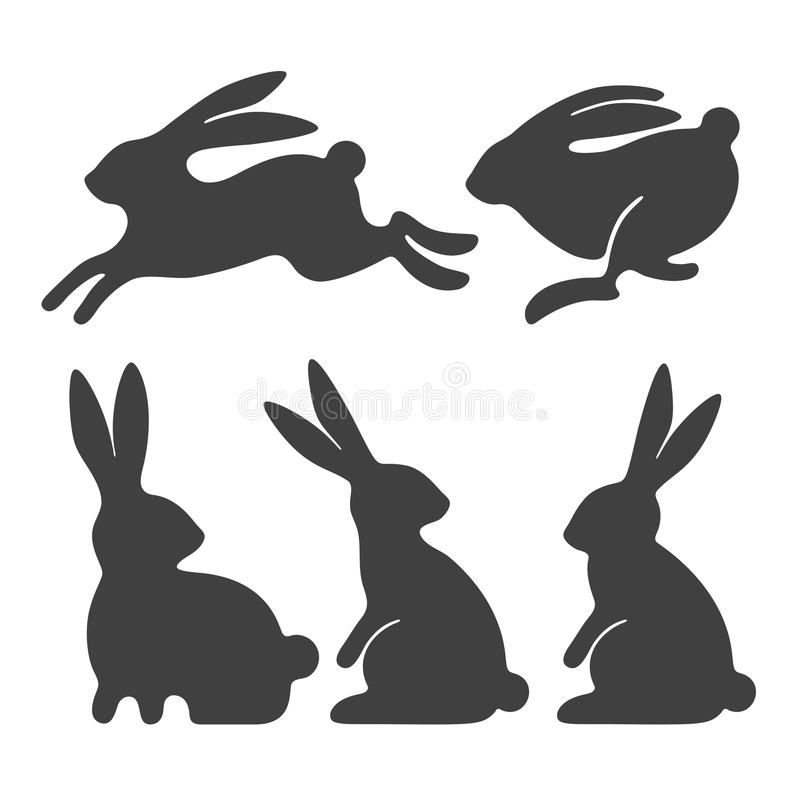 Rabbit set stock illustration