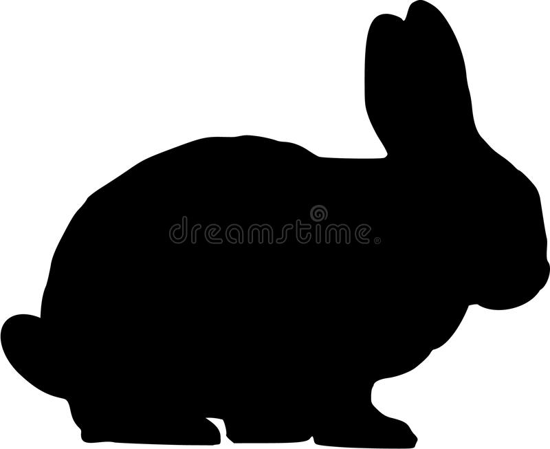 Rabbit silhouette stock vector. Illustration of nature ...
