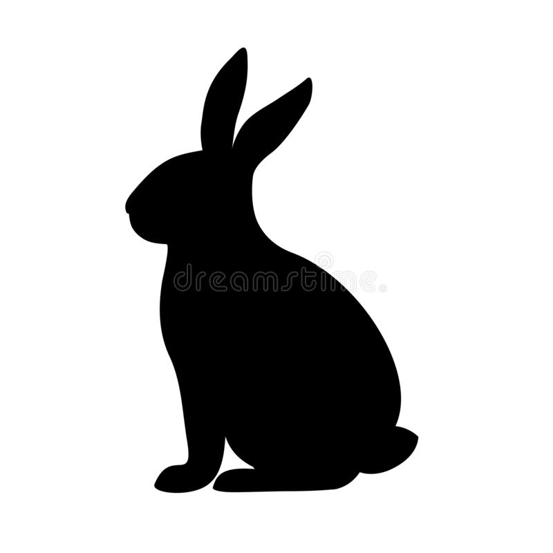 Rabbit silhouette in vector. stock photography