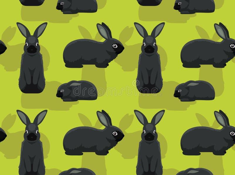 Rabbit Silver Fox Background Seamless Wallpaper Stock Vector