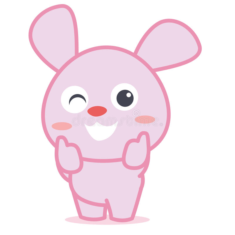 Rabbit smilling character cartoon royalty free illustration