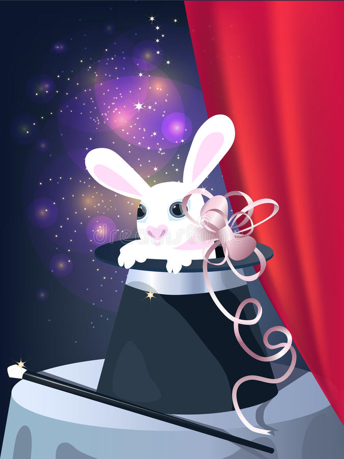 Download Rabbit in top hat stock vector. Illustration of colorful - 16772571