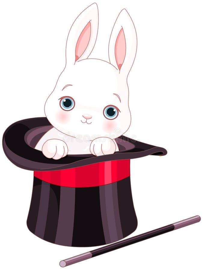 Rabbit In Top Hat Magic Trick Stock Vector - Illustration ...