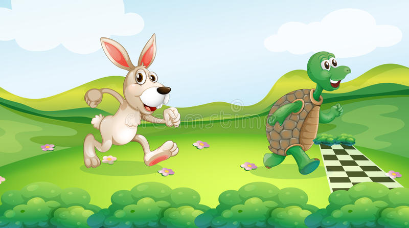 Rabbit Race Stock Illustrations 386 Rabbit Race Stock