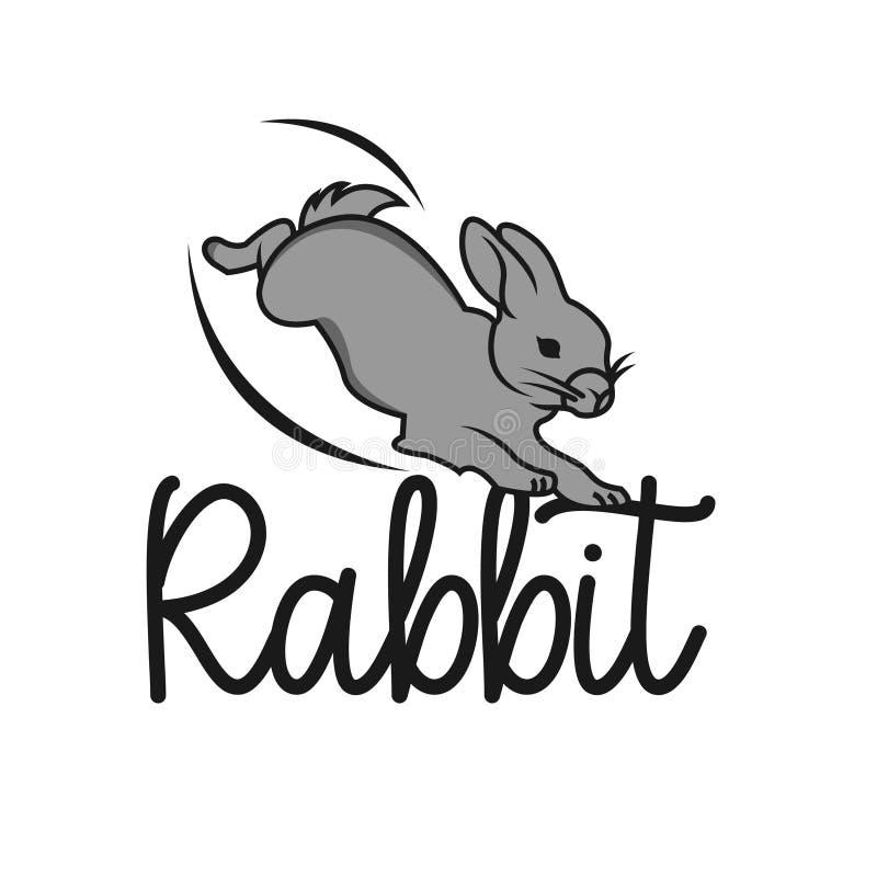 Rabbit icon logo isolated on white background. Rabbit icon in trendy design style vector illustration
