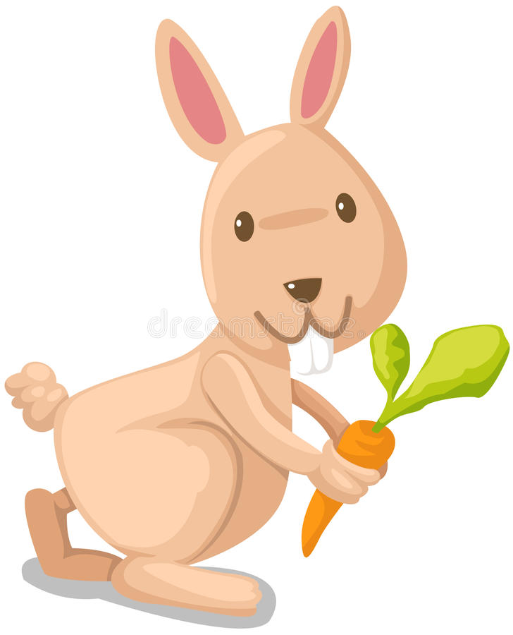 Free Rabbit With Carrot Stock Image - 26156051
