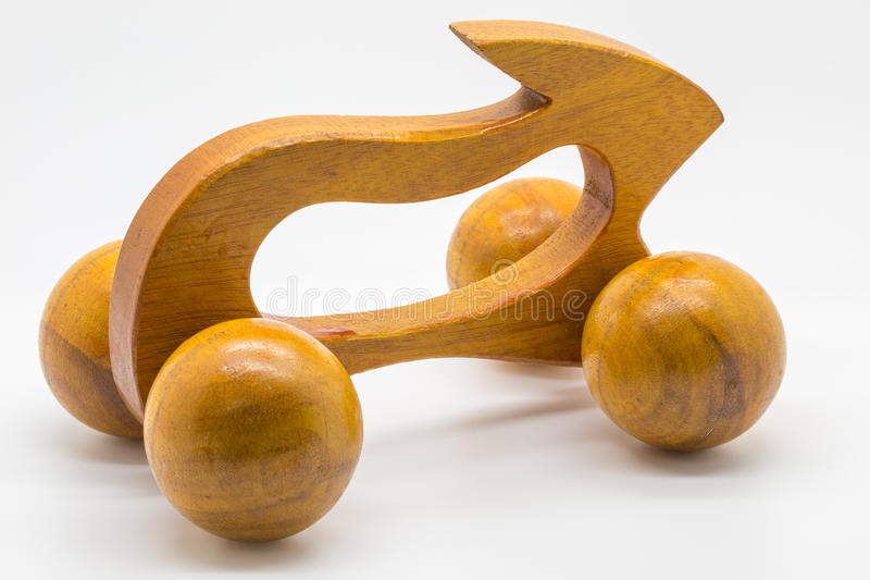 Rabbit wooden massage tools royalty free stock photos