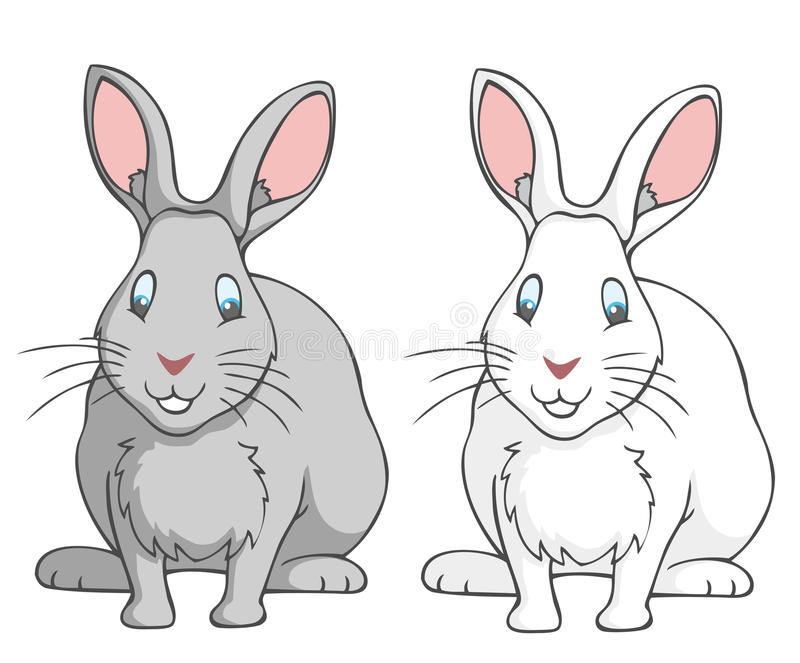 Download Rabbits stock vector. Illustration of bunnies, white - 25761476