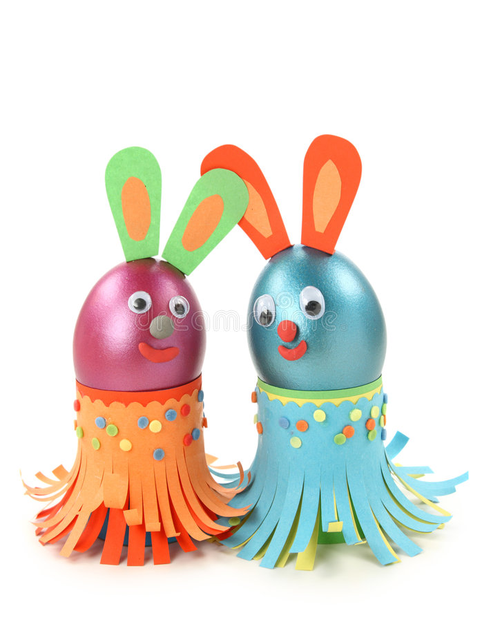Download Rabbits stock image. Image of material, craft, decoration - 8110975