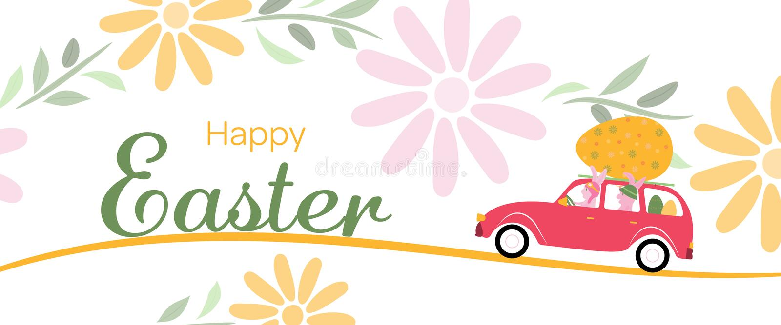 Happy Easter - Bunny stock illustration