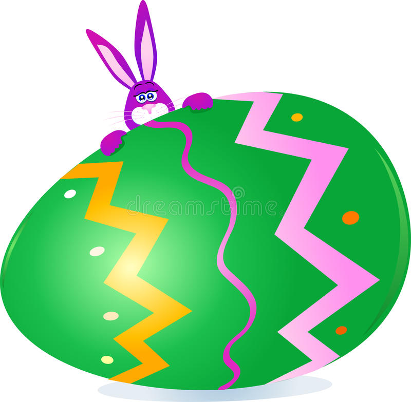 Rabbits And Easter Egg Stock Photo
