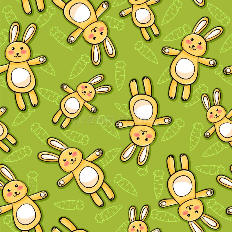 Rabbits Pattern Stock Photo