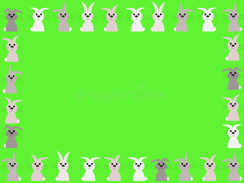 Rabbits springtime border royalty free stock photos