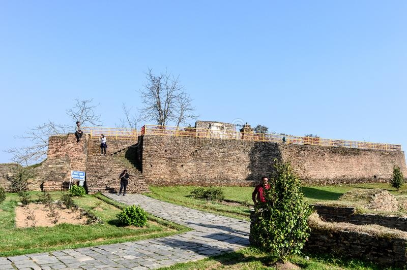 Rabdentse ruins, Kingdom of Sikkim, Pelling 1 May 2018 - Rabdentse Ruins, a destroyed capital city and Buddhist religious stock photos