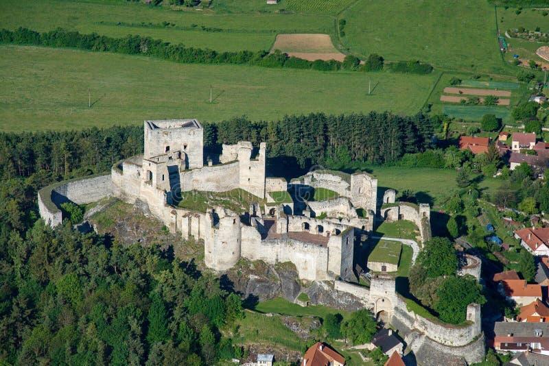 Rabi Schloss - Luftfoto stockfotos