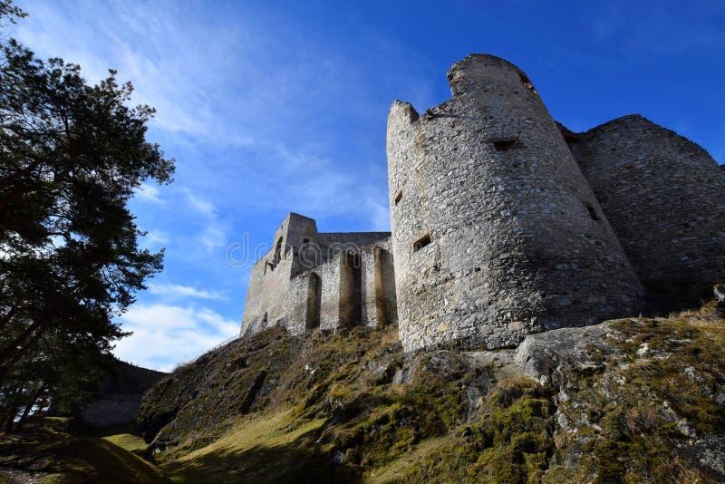 Rabi-Schloss, Tschechische Republik stockfotografie