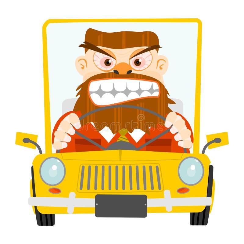 Rabia del camino. ilustración del vector