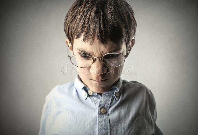 Rabiat barn arkivbild
