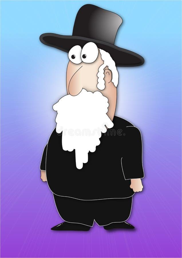 Rabino ilustração stock