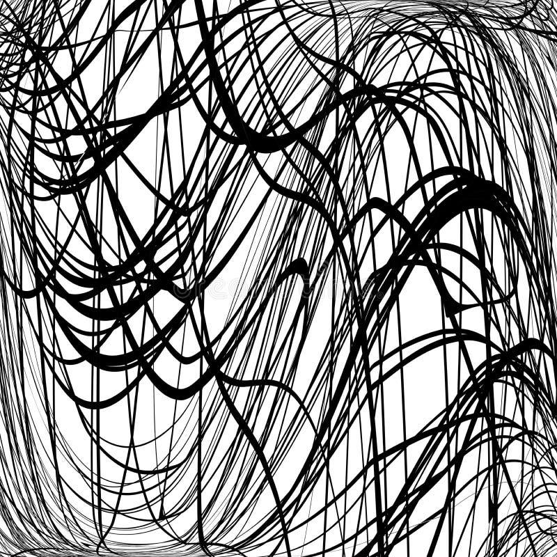 Rabisco da textura ondulado ilustração stock
