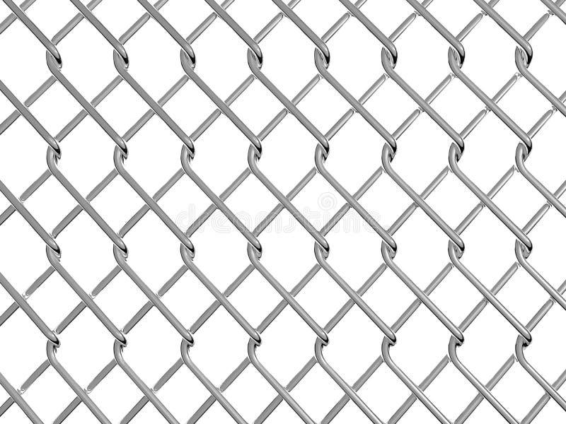 Rabitz 3D rendering. Chainlink fence on white background 3D rendering stock illustration