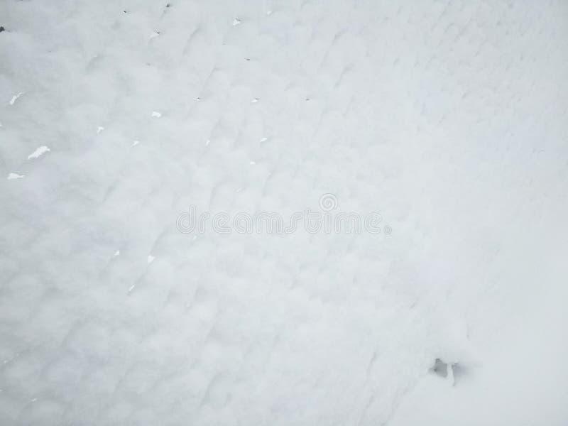Rabitz Metalliskt gammalt ingrepp som täckas med snö arkivbild