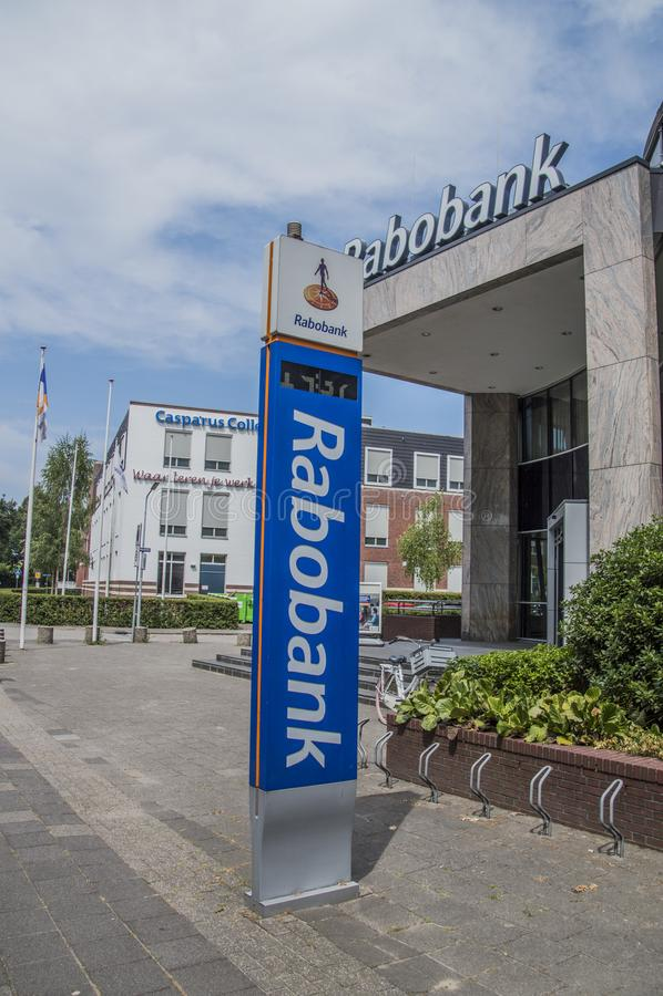 Rabobank на Weesp Нидерланды стоковое изображение rf