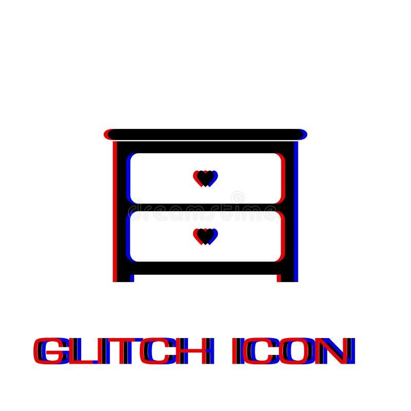 Raboteuse avec l'ic?ne de tiroirs ? plat illustration libre de droits