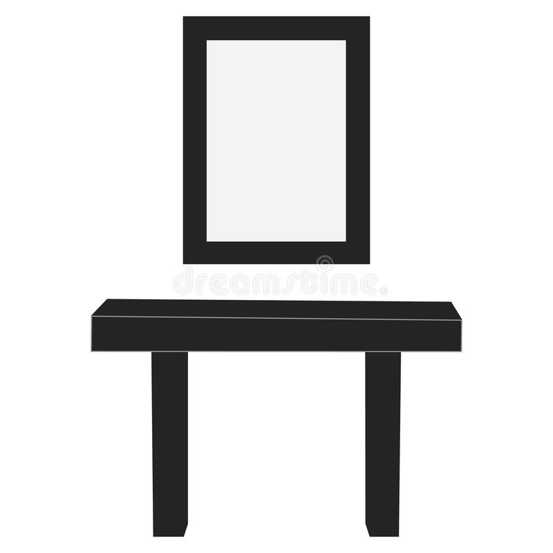 Raboteuse avec le miroir illustration stock