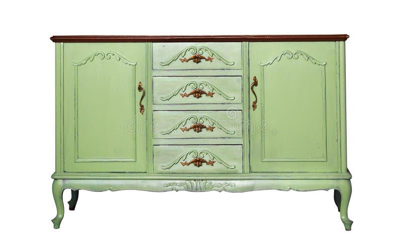 Raboteuse en bois verte de vintage d'isolement sur le blanc image stock