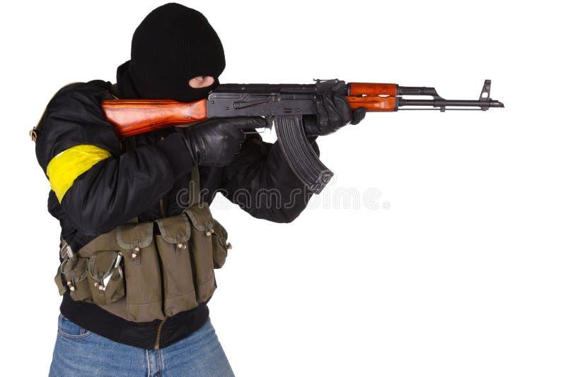 Rabuś z AK 47 zdjęcie royalty free