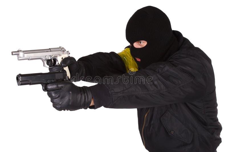 Rabuś z pistolecikiem zdjęcie royalty free
