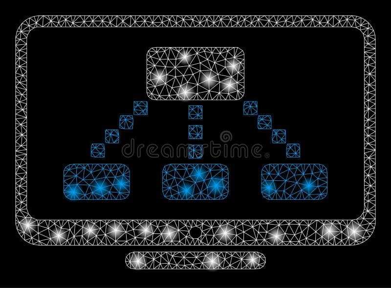 Raca siatki ścierwa hierarchii monitor z raców punktami royalty ilustracja
