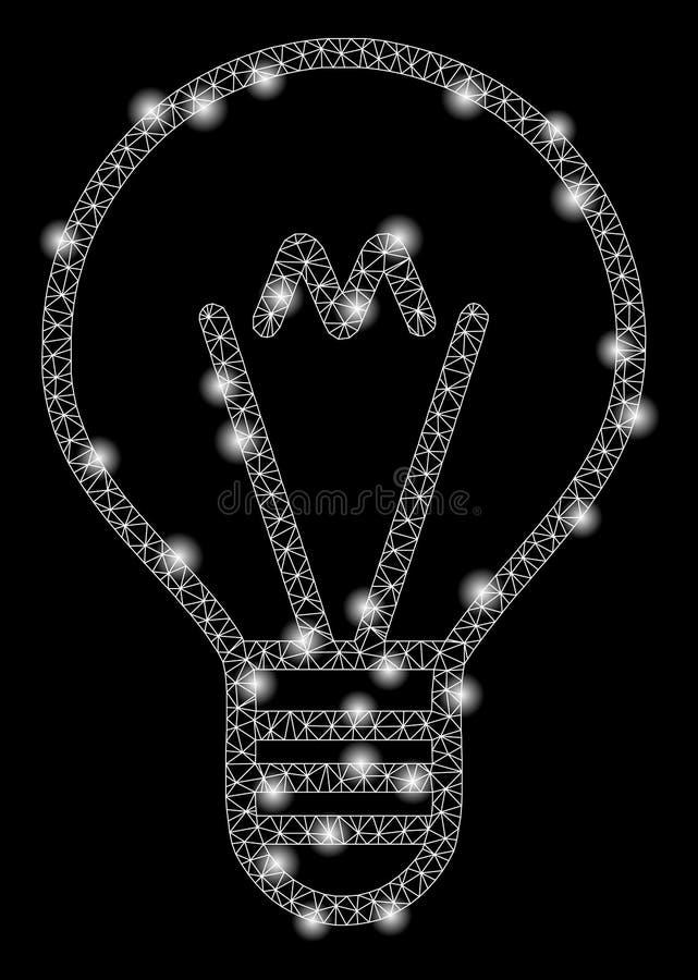 Raca siatki aluzji 2D lampa z raców punktami ilustracja wektor
