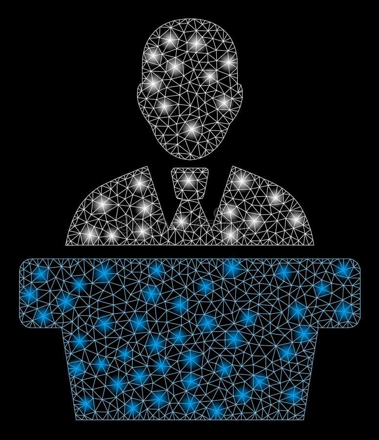 Raca siatki 2D polityk z Błyskowymi punktami ilustracji