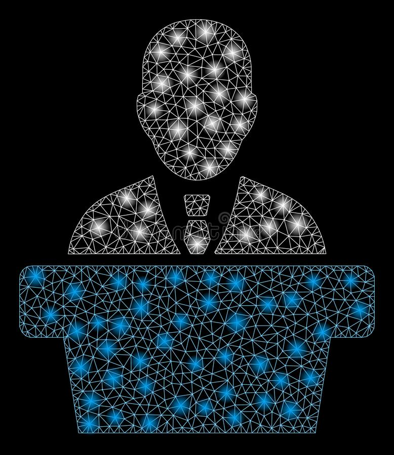 Raca siatki 2D polityk z raców punktami ilustracja wektor