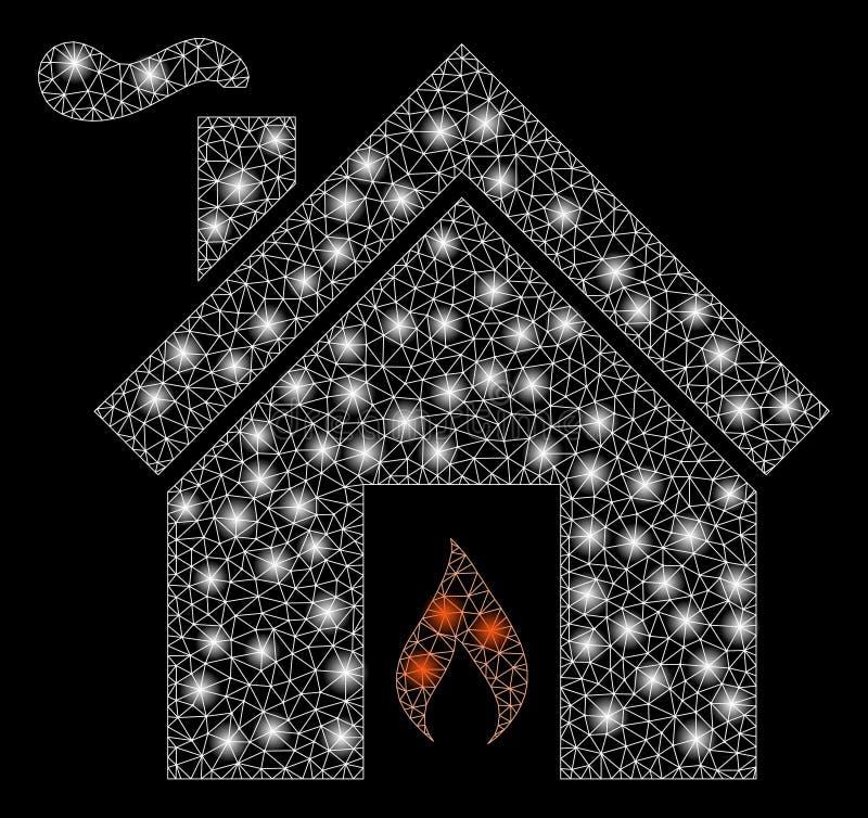 Raca siatki drutu ramy kuchni ogień z raców punktami royalty ilustracja