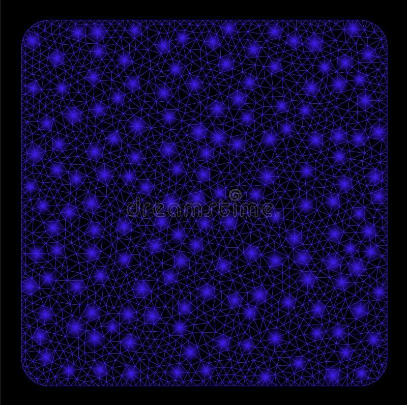 Raca siatki sieci Wypełniający kwadrat z raców punktami ilustracja wektor