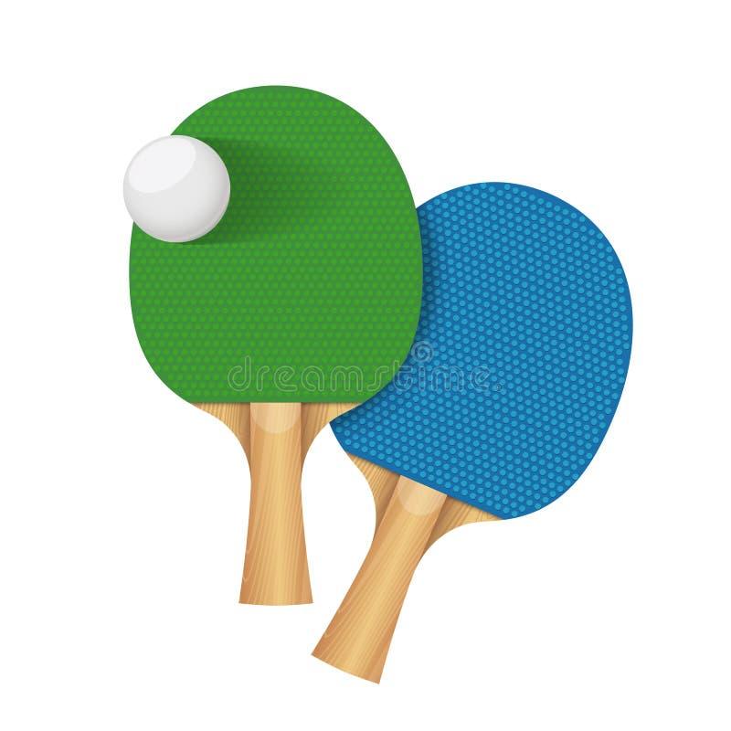 Racchetta di ping-pong di sport di ping-pong royalty illustrazione gratis