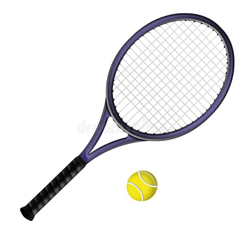 Racchetta di tennis royalty illustrazione gratis