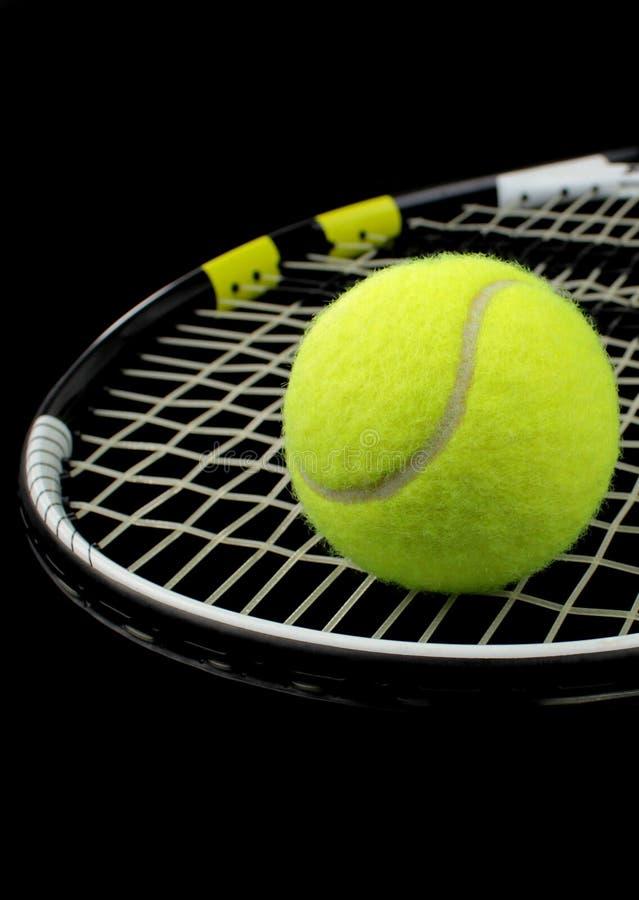 Racchetta di tennis, sfera di tennis fotografia stock
