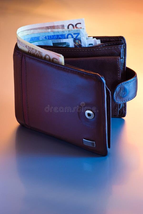 Raccoglitore con l'euro fotografia stock libera da diritti