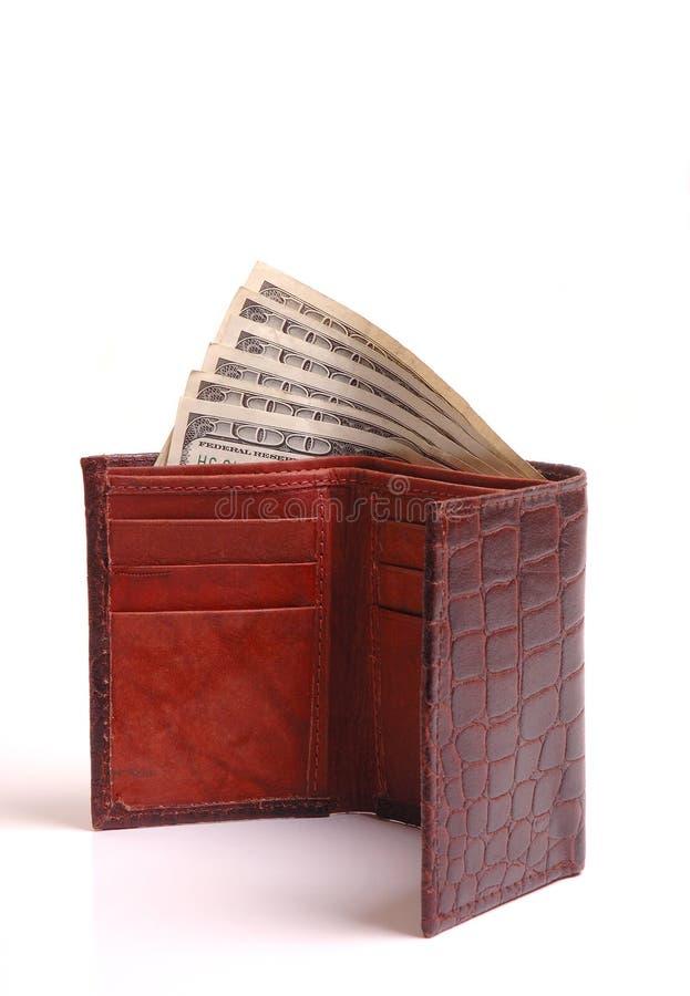 Raccoglitore con soldi fotografia stock libera da diritti