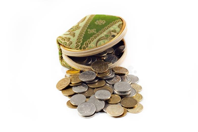Raccoglitore e soldi fotografie stock