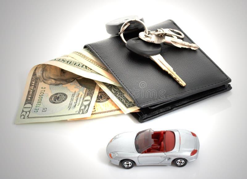 Raccoglitore ed automobile fotografie stock libere da diritti