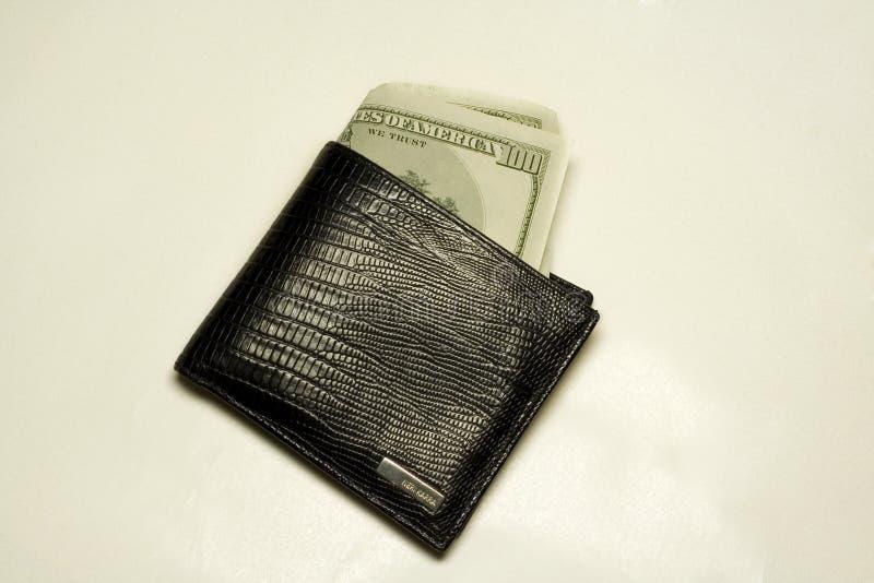 Raccoglitore in pieno delle fatture del dollaro immagini stock libere da diritti